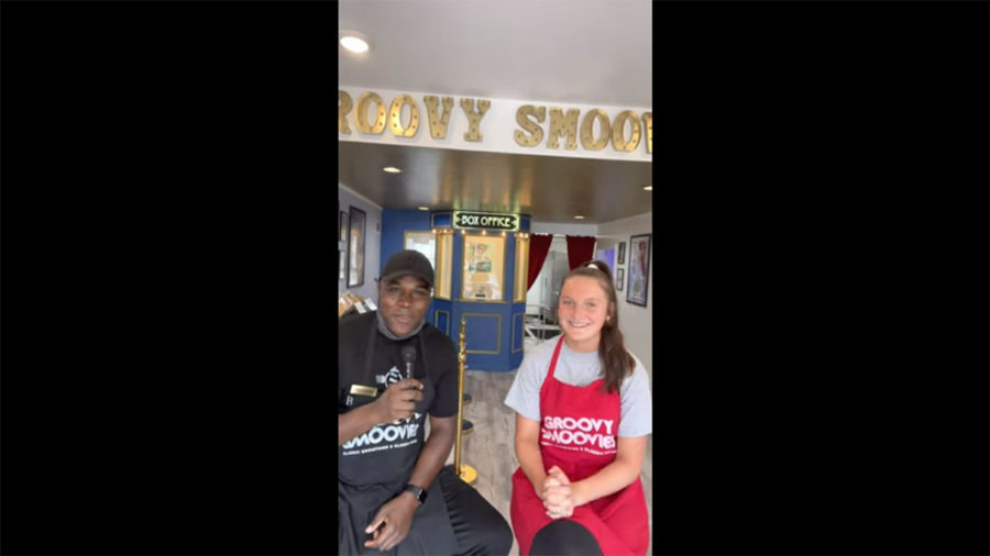 Interview by Groovy Smoovies' owner Antonne and his employee, Amelia Dunn